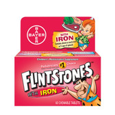 Buy Children's Multivitamin Supplement with Iron Fruit Flavors 60 Chewable Tabs Flintstones Online, UK Delivery