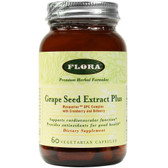 Buy Grape Seed Extract Plus 60 Veggie Caps Flora Online, UK Delivery, Antioxidant Masquelier's Grape Seed Extract