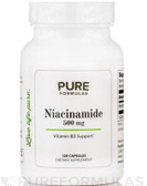 Niacinamide 500 mg 100 Caps Pure Formulas, Antioxidant