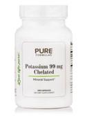UK Potassium 99 mg Chelated, 100 Caps, PureFormulas