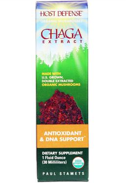 Host Defense Chaga Extract 1 oz (30 ml) Fungi Perfecti, Antioxidant, UK Supplements