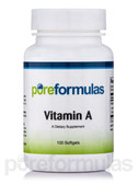 Vitamin A 10000 IU 100 Softgels Pure Formulas, Healthy Vision, UK