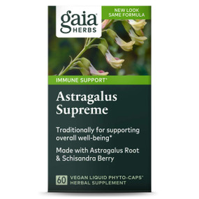 Buy DailyWellness Astragalus Supreme 60 Vegetarian Liquid Phyto-Caps Gaia Herbs Online, UK Delivery, Cold Flu Remedy Relief Viral Astragalus Immune Support