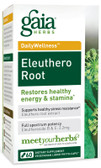 Buy DailyWellness Eleuthero Root 60 Vegetarian Liquid Phyto-Caps Gaia Herbs Online, UK Delivery, Cold Flu Remedy Relief Viral Treatment Ginseng Eleuthero Immune Support