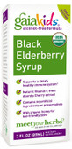 Buy Kids Black Elderberry Syrup Alcohol-Free Formula 3 oz (90 ml) Gaia Herbs Online, UK Delivery, Cold Flu Remedy Relief Treatment Elderberry Sambucus Immune Support