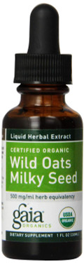 Buy Certified Organic Wild Oats Milky Seed 1 oz (30 ml) Gaia Herbs Online, UK Delivery, Herbal Natural Treatment Remedy