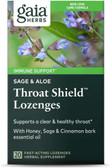 Buy Throat Shield Lozenges Sage & Aloe 20 Fast-Acting Lozenges Gaia Herbs Online, UK Delivery, Throat Care Spray