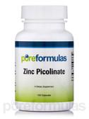 Zinc Picolinate 50 mg 100 Caps Pure Formulas, Antioxidant