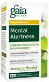 Buy DailyWellness Mental Alertness 60 Vegetarian Liquid Phyto-Caps Gaia Herbs Online, UK Delivery, Herbal Remedy Natural Treatment