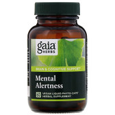 Buy DailyWellness Mental Alertness 60 Vegetarian Liquid Phyto-Caps Gaia Herbs Online, UK Delivery