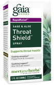 Buy Throat Shield Spray Sage & Aloe 30 ml Gaia Herbs Online, UK Delivery, Throat Care Spray
