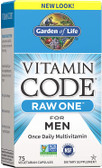 Buy Vitamin Code Raw One Once Daily MultiVitamin for Men 75 Caps Garden of Life Online, UK Delivery, Raw Vitamins
