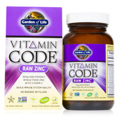 Buy Vitamin Code Raw Zinc 60 Veggie Caps Garden of Life Online, UK Delivery, Mineral Supplements Vegan Vegetarian