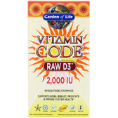 Vitamin Code Raw D3 2000IU, 120 Caps, Garden of Life