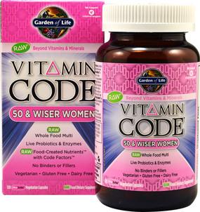 Buy Vitamin Code 50 & Wiser Women 120 UltraZorbe Veggie Caps Garden of Life Online, UK Delivery, Raw Vitamins