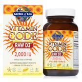Buy Vitamin Code Raw D3 2000 IU 60 UltraZorbe Caps Garden of Life Online, UK Delivery, Raw Vitamins