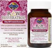 Buy RAW Resveratrol 350 mg 60 Veggie Caps Garden of Life Online, UK Delivery,