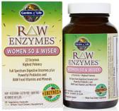 Buy RAW Enzymes Women 50 & Wiser 90 Veggie Caps Garden of Life Online, UK Delivery, Women's Supplements Vitamins For Women