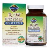 Buy RAW Enzymes Men 50 & Wiser 90 Veggie Caps Garden of Life Online, UK Delivery, Men's Supplements Vitamins For Men Formulas