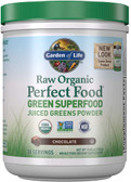 Buy Perfect Food Raw Organic Green Super Food Chocolate Cacao 10 oz (285 g) Garden of Life Online, UK Delivery, Superfoods Green Food