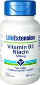 Life Extension Vitamin B3 Niacin 500 mg 100 Caps, Energy