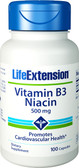 Life Extension, Vitamin B3 Niacin 500 mg, 100 Caps, Energy
