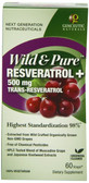 Buy Wild & Pure Resveratrol 500 mg 60 V-Caps Genceutic Naturals Online, UK Delivery