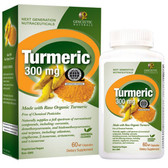 Buy Turmeric 300 mg 60 NP Natural Caps Genceutic Naturals Online, UK Delivery, Antioxidant Curcumin