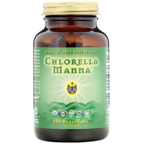 Buy Chlorella Manna 400 VeganTabs HealthForce Nutritionals Online, UK Delivery, Superfoods Green Food