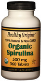 Buy Organic Spirulina 500mg 360 Tabs Healthy Origins Online, UK Delivery, Spirulina Green Food Superfoods