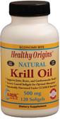 Buy Krill Oil Natural Vanilla Flavor 500 mg 120 sGels Healthy Origins Online, UK Delivery, EFA Omega EPA DHA