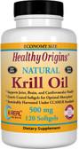 Buy Krill Oil Natural Vanilla Flavor 500 mg 120 sGels Healthy Origins Online, UK Delivery, EFA Omega EPA DHA