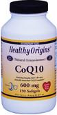 Buy CoQ10 (Kaneka Q10) 600 mg 150 sGels Healthy Origins Online, UK Delivery, Antioxidant Ubiquinol CoQ10 Gluten Free
