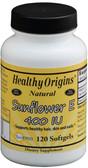 Buy Sunflower E 400 IU 120 sGels Healthy Origins Online, UK Delivery, Vitamin E Gluten Free