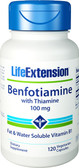 Life Extension, Benfotiamine with Thiamine 100mg, 120 Caps
