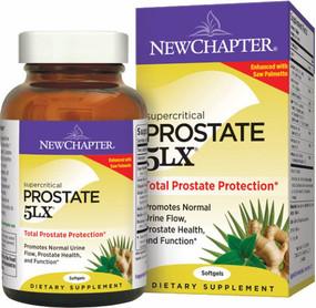 Prostate 5LX 120 Softgels New Chapter, Urine Flow, UK Supplements