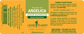 Buy Angelica 1 oz (29.6 ml) Herb Pharm Online, UK Delivery, Herbal Natural Treatment Remedy