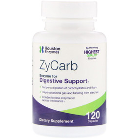 Buy ZyCarb Multi-Enzyme 120 Caps Houston Enzymes Online, UK Delivery, Digestive Enzymes