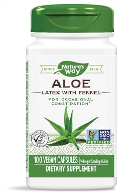 UK Buy Nature's Way, Aloe Vera Leaves, 100 Caps, Digestion