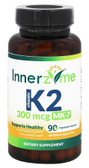 Buy Vitamin K2 MK- 7 300 mcg 90 Veggie Caps Innerzyme Online, UK Delivery, Vitamin K