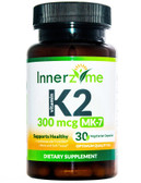 Buy Vitamin K2 MK-7 300 mcg 30 Veggie Caps Innerzyme Online, UK Delivery, Vitamin K