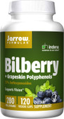 Buy Bilberry + Grapeskin Polyphenols 280 mg 120 Veggie Caps Jarrow Online, UK Delivery, Antioxidant Eye Support Supplements Vision Care Bilberry