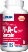 Buy N-A-C Sustain N-Acetyl-L-Cysteine 600 mg 100 Tabs Jarrow Online, UK Delivery, Amino Acid