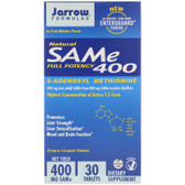 Buy Natural SAM-e 400 400mg 30 Enteric-Coated Tabs Jarrow Online, UK Delivery, Substance Abuse Detox Supplements Addiction Treatment S-Adenosyl Methionine SAME