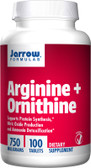 Buy Arginine + Ornithine 750 mg 100 Tabs Jarrow Online, UK Delivery, Amino Acid