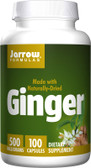 Buy Ginger 4:1 Concentrate 500 mg 100 Caps Jarrow Online, UK Delivery, Herbal Remedy Natural Treatment