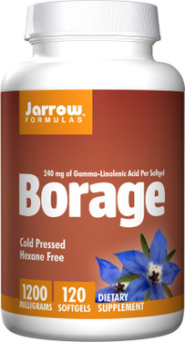 Buy Borage 1200 mg 120 sGels Jarrow Online, UK Delivery, EFA Omega EPA DHA