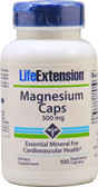 Magnesium Caps 500 mg 100 Caps Life Extension, UK Store