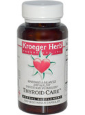 Buy Thyroid Care 100 Veggie Caps Kroeger Herb Co Online, UK Delivery, Thyroid Treatment Formulas Supplements