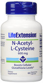 Buy N-Acetyl-L-Cysteine 600 mg 60 Veggie Caps Life Extension Online, UK Delivery, Amino Acid